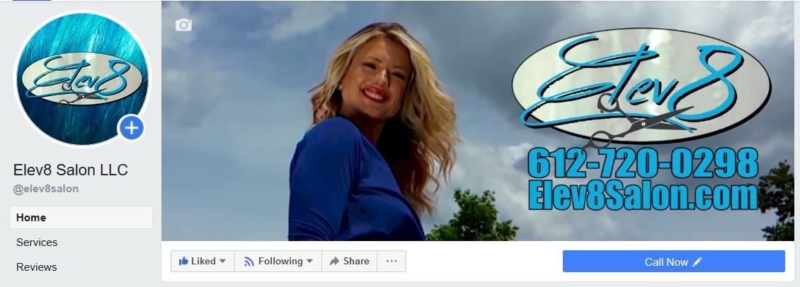Elev8 Salon Facebook Header #7TrillionVideos
